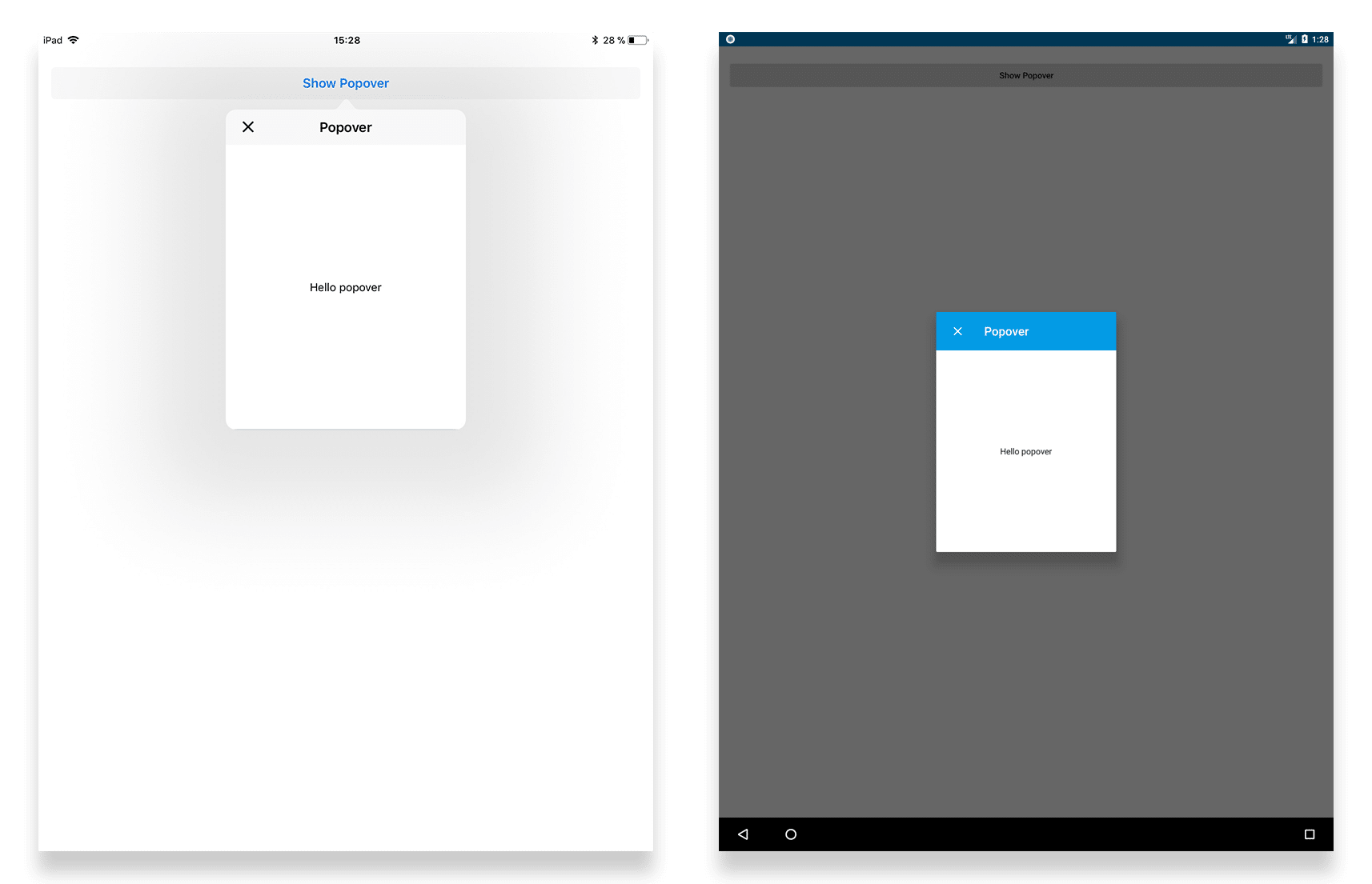 Create Mobile Applications Via The New Popover Dialog And Linear Gradients With The New Tabris Js 2 5 Release Tabris