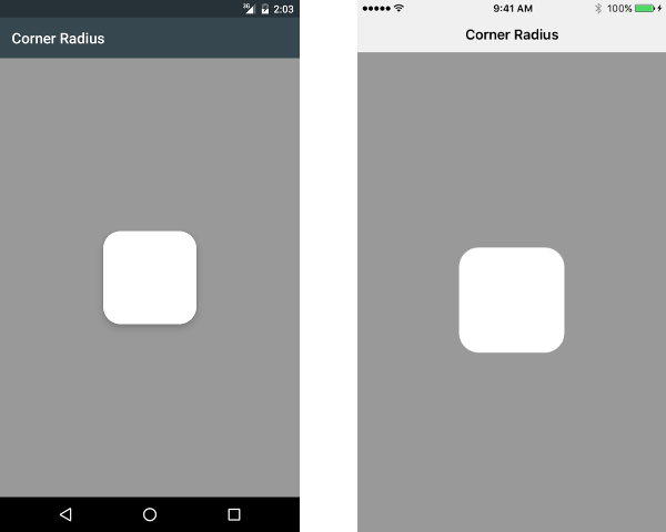 Rounded corners on widgets, a system bar theme for Android and iOS